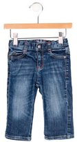 Armani Junior Boys' Distressed Medium Wash Jeans