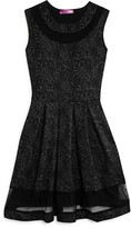 Aqua Girls' Black Leopard Dress - Sizes S-XL