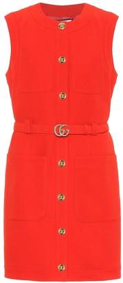 Gucci Wool and silk cady minidress