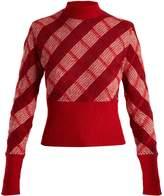 Miu Miu High-neck checked mohair-blend sweater