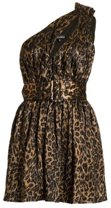 retrofete Kaylah Leopard Cutout Dress