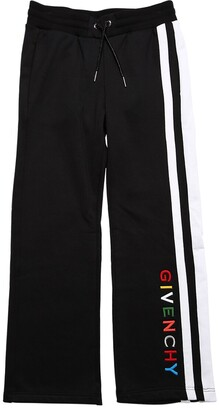 Givenchy Cotton Sweatpants W/ Embroidered Logo