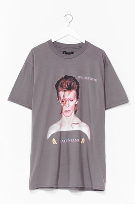 Nasty Gal Womens Forever Iconic Bowie Tee Dress - Charcoal