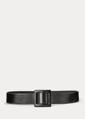 Ralph Lauren Patent Leather Skinny Belt