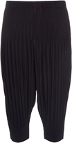 HOMME PLISSE ISSEY MIYAKE Dropped-crotch pleated cropped trousers