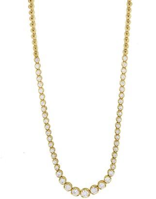 Jennifer Meyer Graduated Diamond Tennis Necklace - Yellow Gold