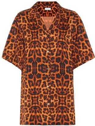 Dries Van Noten Leopard-printed satin shirt