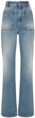 MM6 MAISON MARGIELA Indigo Denim Flare 5 Pockets Jeans