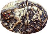 One Kings Lane Vintage Victorian Repoussé Tiger Sash Pin