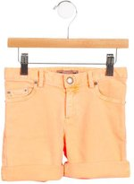 Bonpoint Girls' Cuffed Denim Shorts