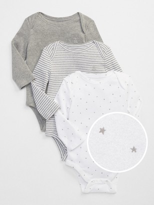 Gap Baby First Favorite Long Sleeve Bodysuit (3-Pack)