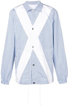 Comme des Garcons panelled striped shirt jacket
