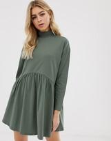 Asos Design DESIGN high neck curve seam smock dress
