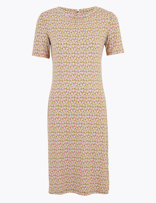 Marks and Spencer PETITE Floral Knee Length Swing Dress