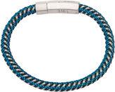 JCPenney FINE JEWELRY Inox Jewelry Mens Stainless Steel & Braided Black Leather Bracelet