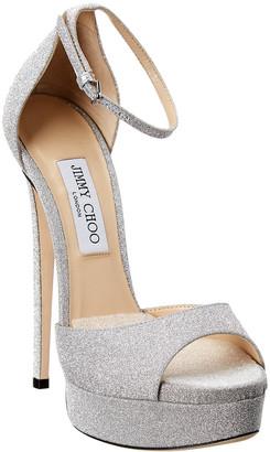 Jimmy Choo Max 150 Glitter Platform Sandal