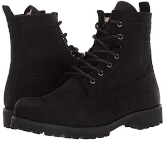 Blackstone Lace-Up Sheepskin Boot - OL22 (Black) Women's Lace-up Boots