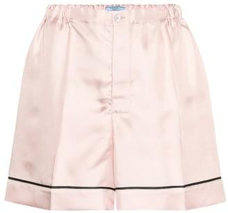 Prada Silk-satin shorts