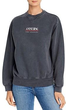 Anine Bing Cotton Ramona Logo Sweatshirt