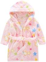 Happy Cherry Children's Robe Kids Cartoon Flannel Bathrobe Five-pointed Star Sleepwear Size 110