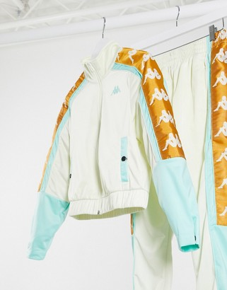 Kappa track jacket with logo taping two-piece