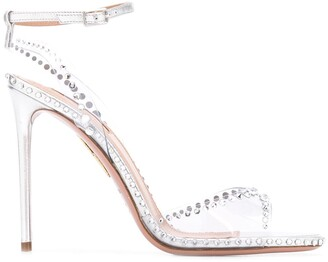 Aquazzura Crystal-Embellished High Heel Sandals