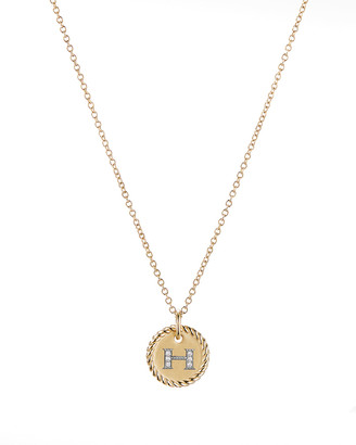 David Yurman Initial H Cable Collectible Necklace with Diamonds