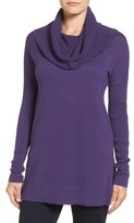 Caslon Women's Side Slit Cowl Neck Tunic