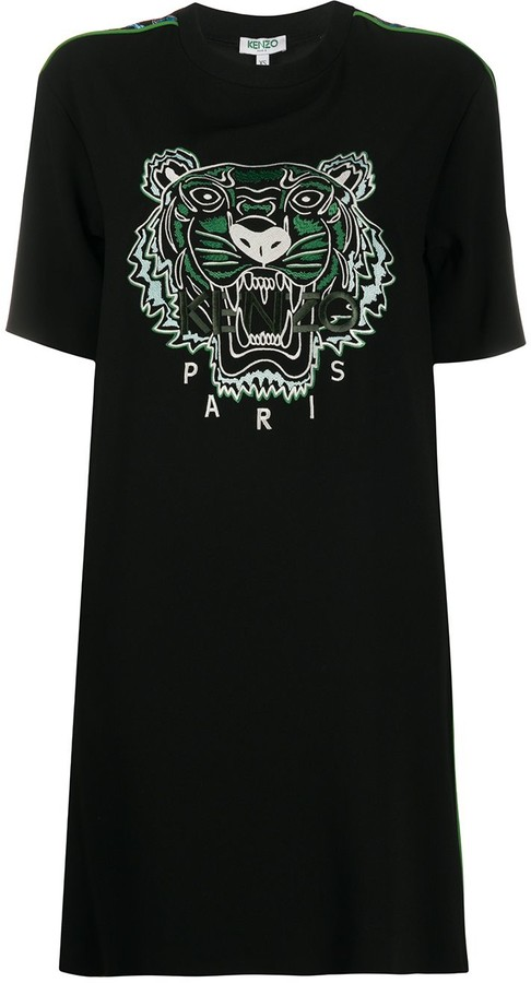 Thumbnail for your product : Kenzo tiger-embroidered T-shirt dress