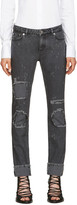 Givenchy Grey Distressed Jeans