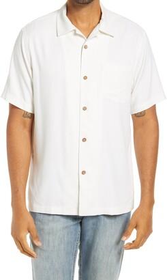 Tommy Bahama Aloha America Short Sleeve Silk Button-Up Camp Shirt