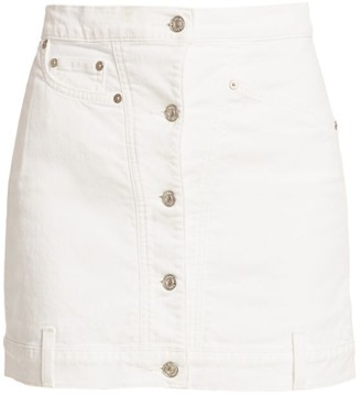 7 For All Mankind Button-Front Denim Pencil Skirt