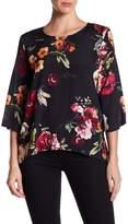 Karen Kane Floral 3/4 Sleeve Blouse