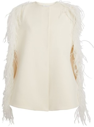 Giambattista Valli Ostrich Feather Cape