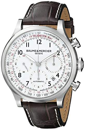 Baume & Mercier Men's BMMOA10041 Capeland Analog Display Mechanical Hand Wind Brown Watch