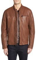 Cole Haan Men's Washed Lamb Leather Moto Jacket