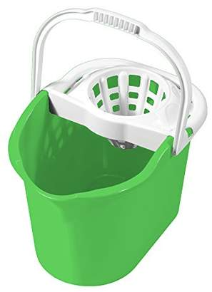 MOP Great Plastic Rectangular Bucket with Wringer, Green, Pack of 12