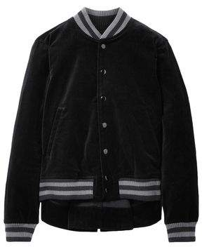 The Great Striped Cotton-velvet Bomber Jacket
