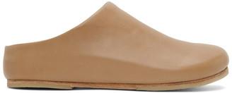 LAUREN MANOOGIAN Beige Leather Mono Mule