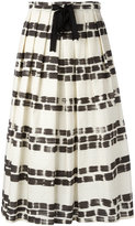 Max Mara brushstroke print pleated skirt - women - Cotton - 40