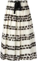 Max Mara brushstroke print pleated skirt - women - Cotton - 42