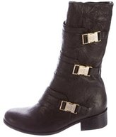 Thomas Wylde Mid-Calf Buckle-Accented Boots