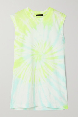 ATM Anthony Thomas Melillo Tie-dyed Cotton-jersey Tank - White