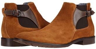 Stacy Adams Roane Suede Chelsea Boot (Black) Men's Shoes