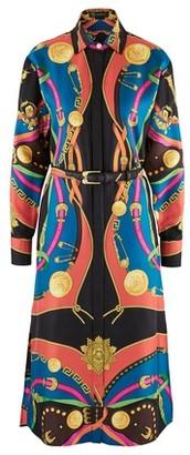 Versace Printed silk shirt dress