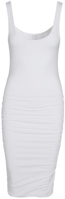 Black White Beige Dress 001- White