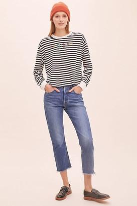 Levi's 501 Cropped Raw-Hem Jeans