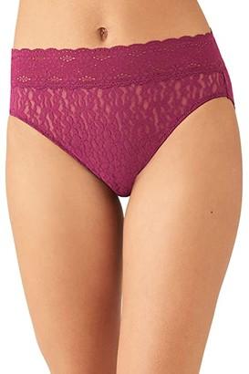 Wacoal Halo Lace Hi-Cut Brief (Black) Women's Underwear