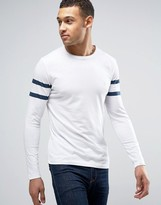 French Connection Long Sleeve Two Stripe Baseball T-Shirt