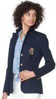 Chaps Petite Crest Button-Down Blazer